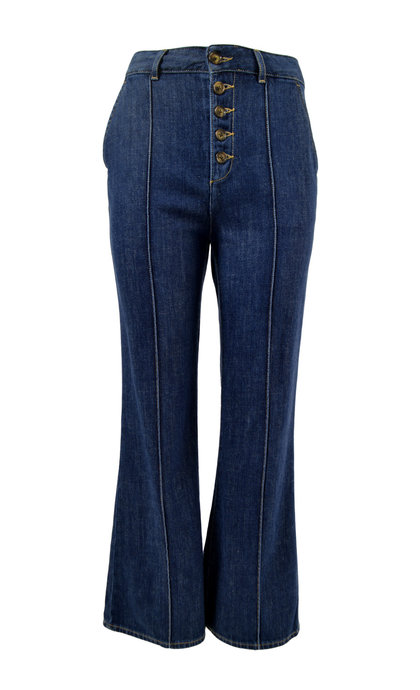 Leon and Harper Fred Trousers Brut + Blue