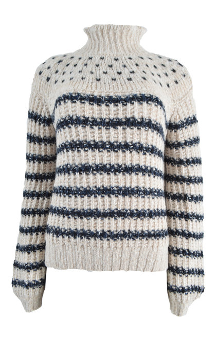 Leon and Harper Mantequillou Sweater Stripes Off White