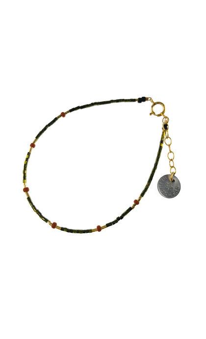 Blinckstar GF 6x Terra Cotta Metallic Green and GF Mini Beads