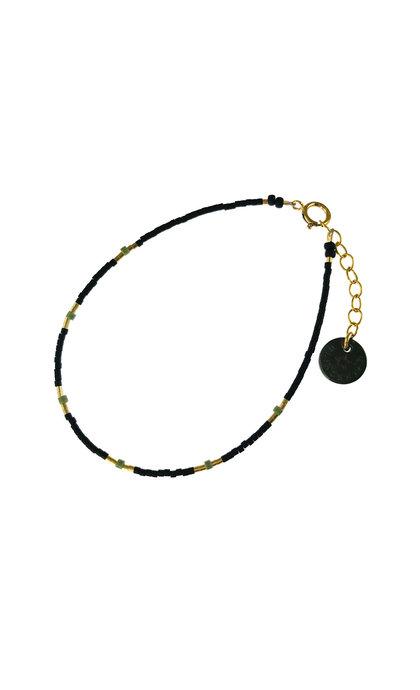 Blinckstar GF 6 Sage Green and Black Matte Mini Beads