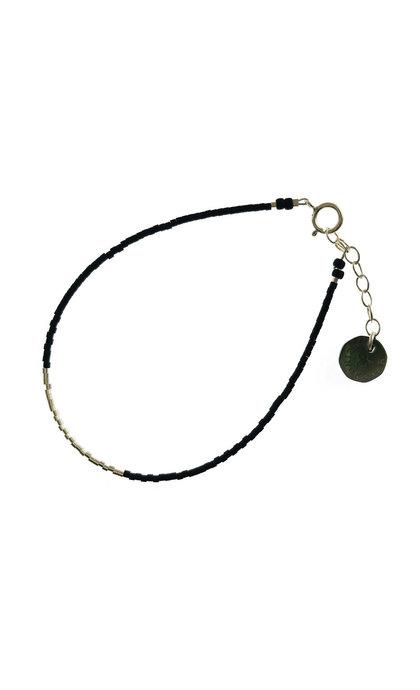Blinckstar 925 Line of Mini Beads Matt Black Beads