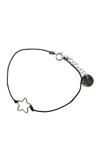 Blinckstar 925 Small Star Black Cord