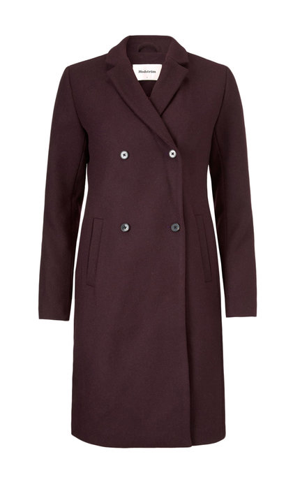 Modstrom Odelia Coat Dark Ruby