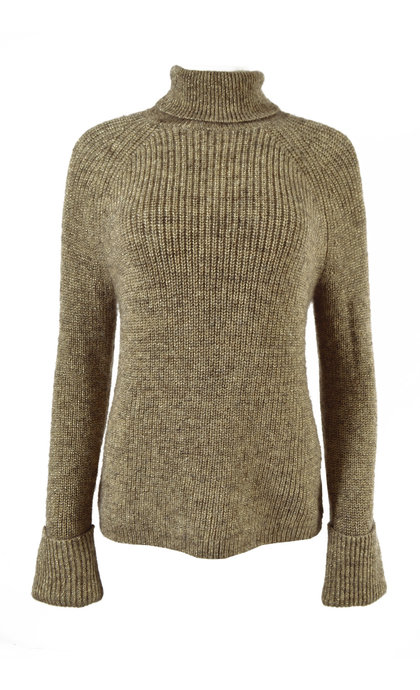Second Female Carri Knit T-Neck Biscuit