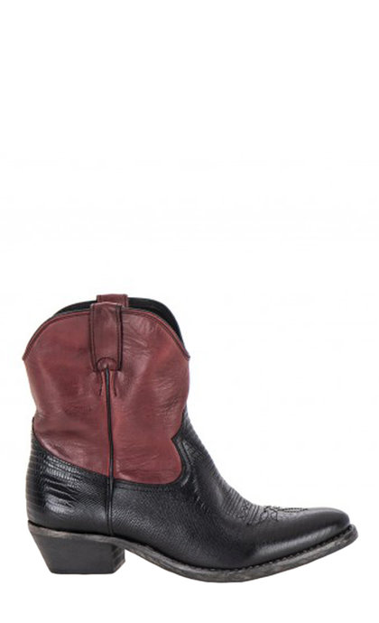 Catarina Martins Benin Leather Black + Red Boots