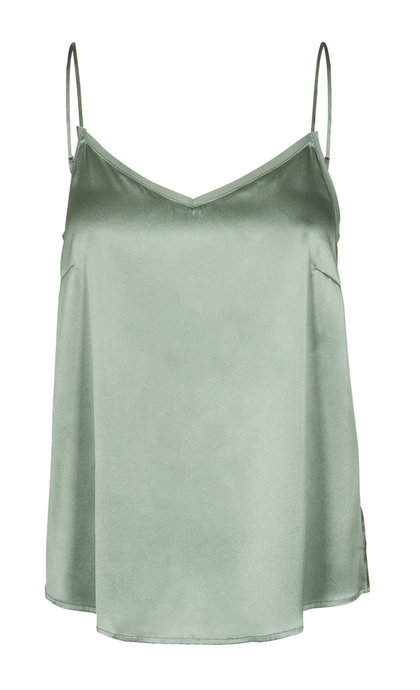 Mos Mosh Ditte Silk Singlet Green Bay
