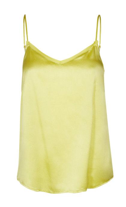 Mos Mosh Ditte Silk Singlet Shadow Lime