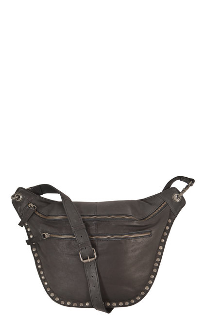Elvy Very Big Fanny Pack Studs Black