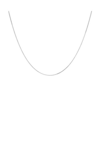 Anna + Nina Plain Necklace Silver Medium