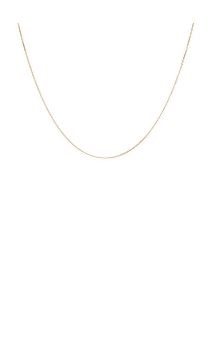 Anna + Nina Plain Necklace Goldplated Medium