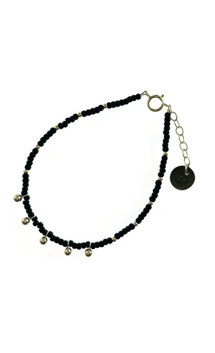 Blinckstar 5 Drops Matt Black Beads