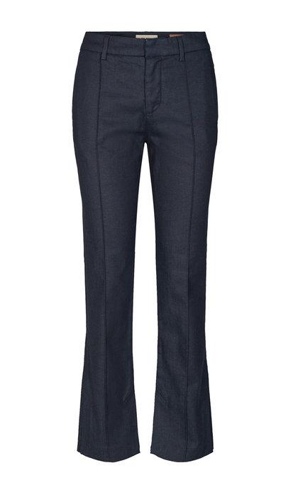 Mos Mosh Callie Gallery Split Pant Dark Blue