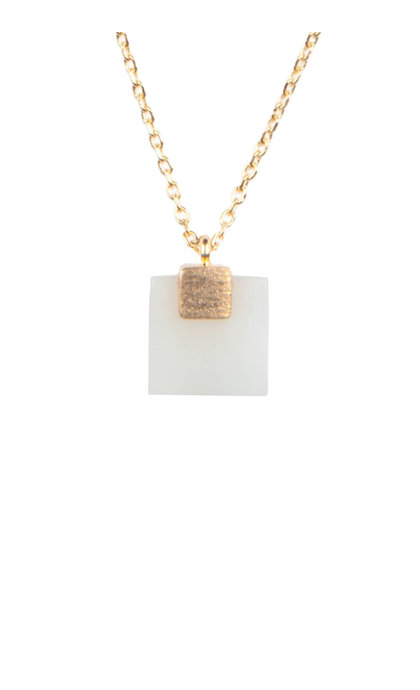 All the Luck in the World Galaxy necklace pastel new jade square