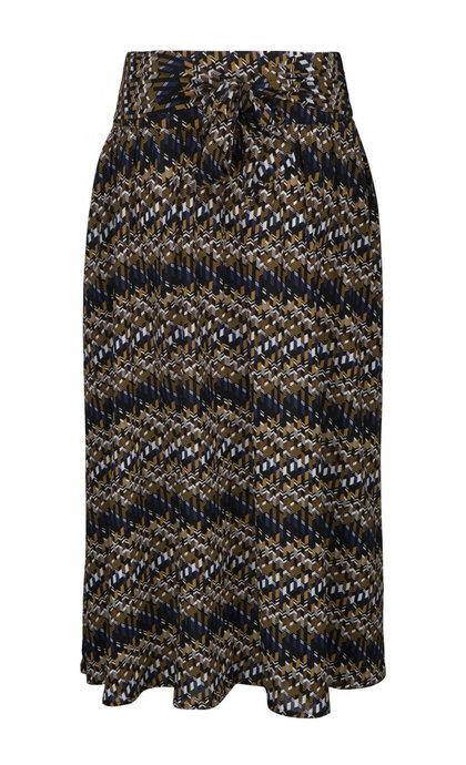 Minus Faya Skirt Blue Bay Illusion Print