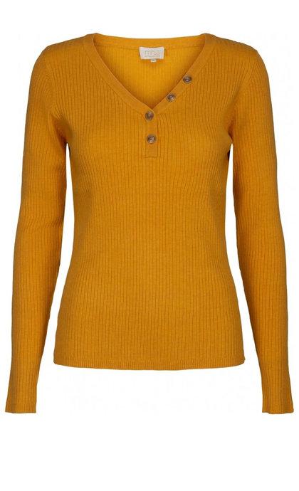 Minus Jolan Knit Ls Tee Sunflower Melage