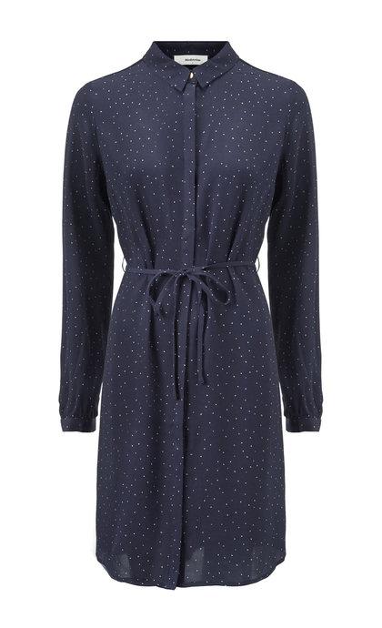 Modstrom Anastacia Print Dress Grapic Dot Navy