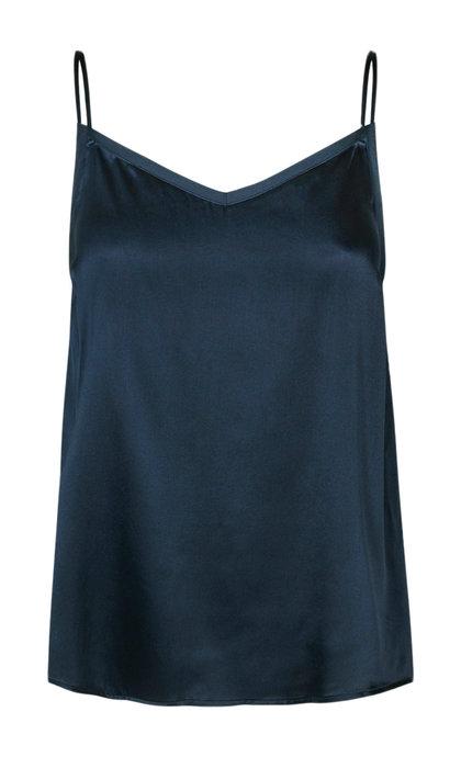 Mos Mosh Ditte Silk Singlet Dark Blue