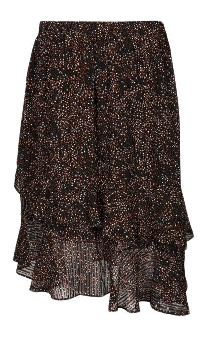 Minus Echo Skirt Striped Confetti Print
