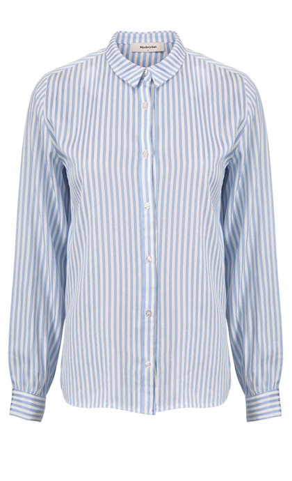 Modstrom Baker Shirt Blue Stripe