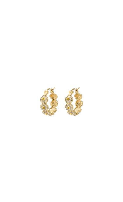 Anna + Nina Daisy Colored Ring Goldplated