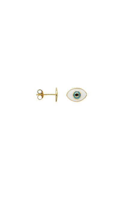 Anna + Nina Single Eye Stud Goldplated