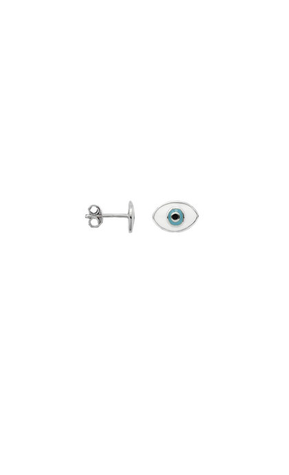Anna + Nina Single Eye Stud Silver