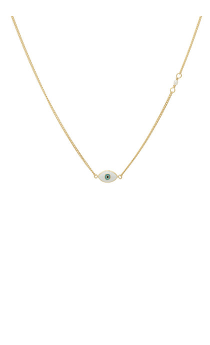 Anna + Nina Small Eye Necklace Goldplated