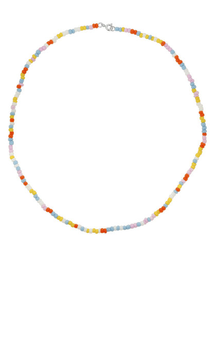 Anna + Nina Coloured Dream Necklace Silver