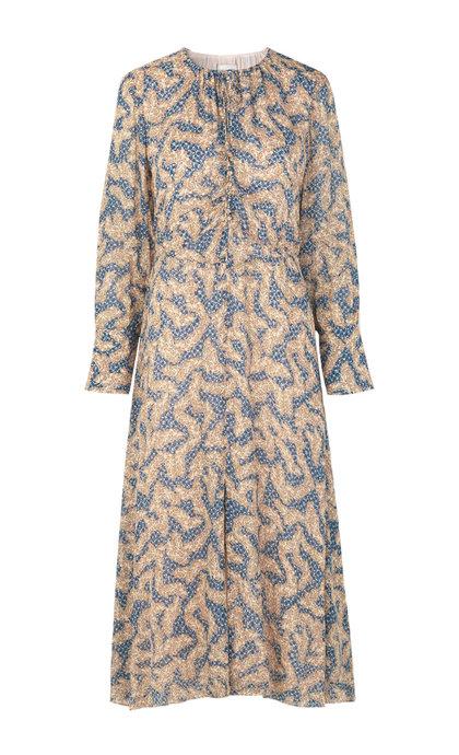 Second Female Wildly LS Midi Dress Creme De Peche