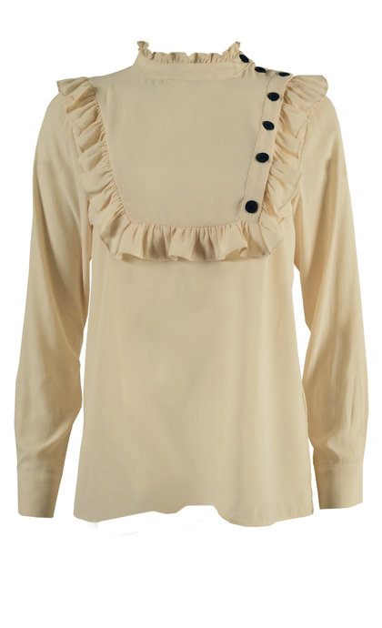 Second Female Florenza LS Blouse Biscotti