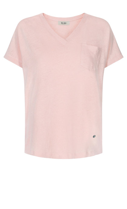 Mos Mosh Maya V-neck Tee Chintz Rose