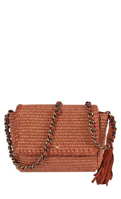 Sessun Joness Raphia Sienna Bag