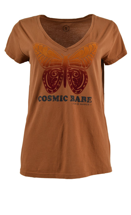 Leon and Harper Tonton Cosmic T-shirt Chocolat