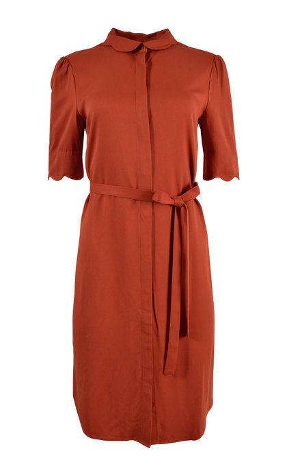 Another Label Ryawa Dress s / s Burned Orange