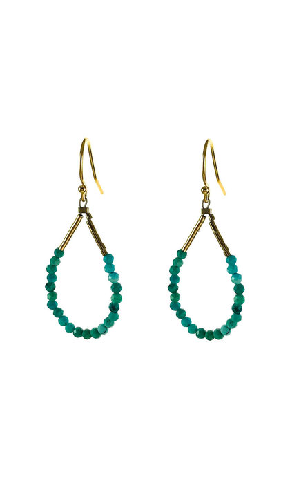 Blinckstar GF Hook Turquoise Faceted Rondells