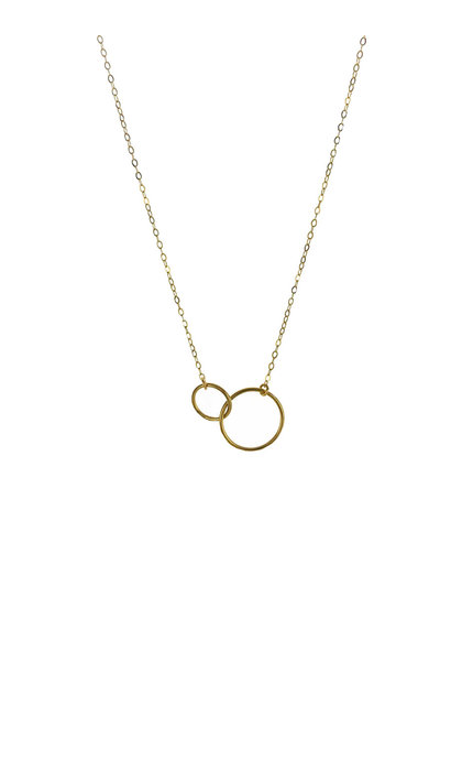 Blinckstar GF 2-Rings Necklace 40-44cm