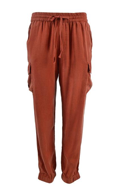 Leon and Harper Trousers Parker Plain Terracotta