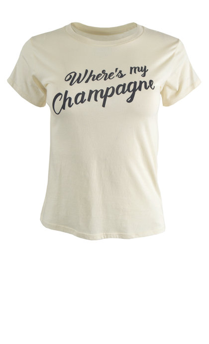 Amuse Society Champagne Knit Tee Vintage White