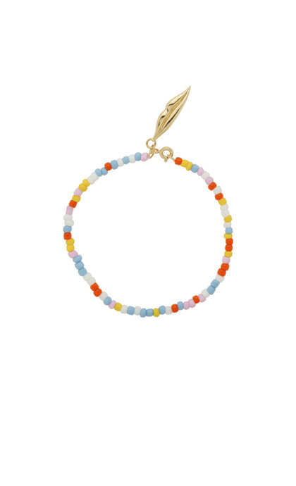 Anna + Nina Coloured Dream Bracelet Silver Goldplated