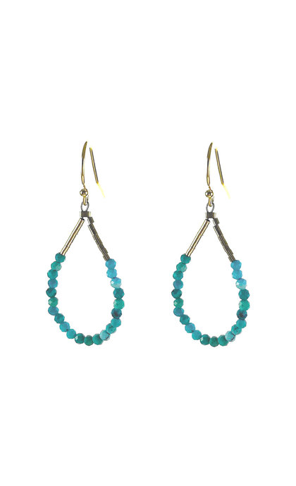 Blinckstar 925 hook Turquoise Faceted Rondells