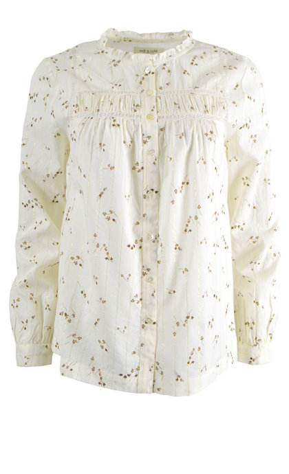 Indi & Cold Romantic Printed Shirt Blanco FD386
