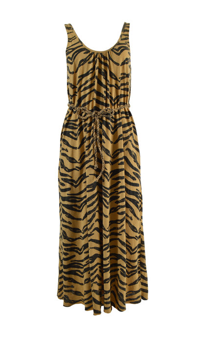 Leon and Harper Romane Tiger Sleeveless Short Dress Tiger