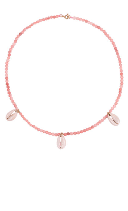 Anna + Nina Coral Pink Necklace