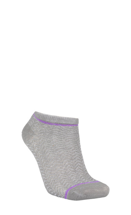 Becksondergaard Dollie Zig Zag Sock Light Grey Melange