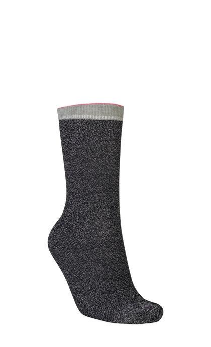 Becksondergaard Dana Herringbone Frill Sock Black