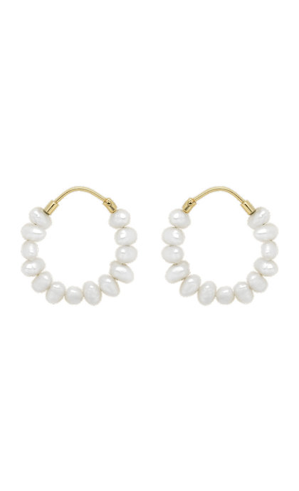 Anna + Nina Pearl Ring Earrings Goldplated