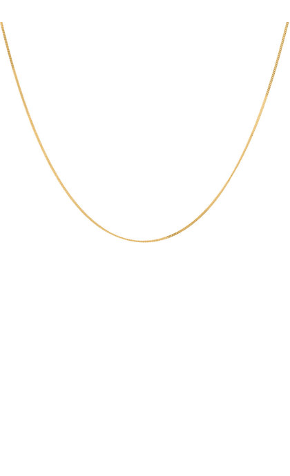 Anna + Nina Plain Necklace Long Goldplated