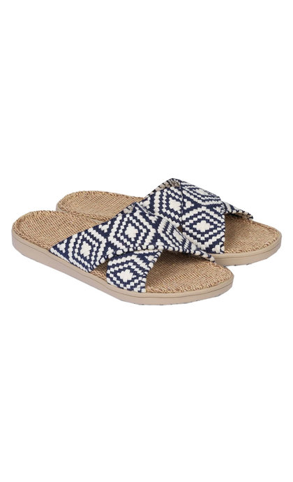 Lovelies Gili Woven Straps Sandal w/ Jute Sole Navy