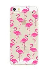FOONCASE iPhone SE hoesje TPU Soft Case - Back Cover - Flamingo
