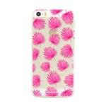 FOONCASE Iphone SE - Pink leaves